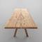 moderner Tisch / aus Eiche / Massivholz / Natureiche