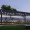 bioklimatische Pergola / selbsttragend / Aluminium / mit Sonnenschutzlamellen