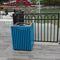 Park-Abfallbehälter / Stahl / Aluminium / Holz