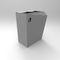 Park-Abfallbehälter / verzinkter Stahl / gestrichenes Metall / modern