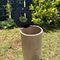 Park-Abfallbehälter / Stahl / modern / mit integriertem Aschenbecher