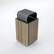 Park-Abfallbehälter / Metall / Holz / für öffentliche Bereiche