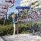 wandmontierter Fahrradständer / verzinkter Stahl / für öffentliche Bereiche