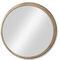 wandmontierter Spiegel / modern / rund / aus Eiche