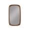 wandmontierter Spiegel / modern / rechteckig / aus Eiche