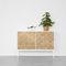 modernes Sideboard / aus Eiche / gestrichenes Holz / weiß