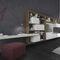 moderne Wohnwand / lackiertes Holz / Modul / lowboard