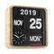 moderne Uhr / Analog / wandmontiert / aus BambusMINI FLIP KARLSSON CLOCKS