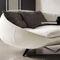 modernes Sofa / Stoff / Metall / mit integriertem Tisch