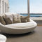 rundes Sofa / modern / Leder / Stoff