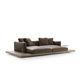 modernes Sofa / Stoff / Leder / von Piero Lissoni