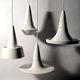 Hängelampe / Keramik / modern / weiß