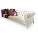Chesterfield-Sofa / Stoff / 3 Plätze / mehrfarbig