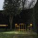 moderner Barhocker / aus lackiertem Stahl / Garten / gelb