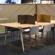 Tisch-Bürotrennwand / aus Natürlicher Kork-Fuß