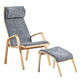 moderner Sessel / Leder / aus Buche / aus Sperrholz