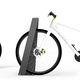 Stahl-Fahrradständer / Edelstahl / gesichert / für öffentliche Bereiche