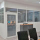 abnehmbare Trennwand / modular / Glas / Aluminium