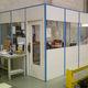 abnehmbare Trennwand / modular / Holz / verglast