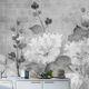moderne Tapete / aus Zellulosefaser / aus Naturfaser / Blumenmuster