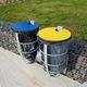 Park-Abfallbehälter / wandmontiert / bodenstehend / Stahl