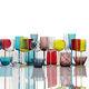 Schale / geblasenes Glas