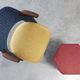 Möbelstoff / mit geometrischem Muster / Baumwolle / Wolle