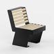 moderner Stuhl / Holz / Stahl / für öffentliche Bereiche