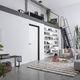 Tür für Innenbereich / anodisiertes Aluminium / einflügelig / voll
