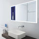 wandmontierter Spiegel für Badezimmer / mit Regal / modern / rechteckig