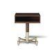 moderner Nachttisch / Holz / mit Fußgestell aus Metall / rechteckig