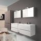 doppelter Waschtisch-Unterschrank / wandhängend / Laminat / modern