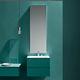 moderner Badezimmer-Schrank / Melamin / wandmontiert / mit Spiegel