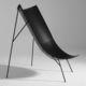 moderner Sessel / Glasfaser / schwarz