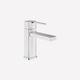 Einhebelmischer für Waschtisch / Aufsatz / verchromtes Metall / Badezimmer