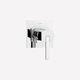 Einhebelmischer für Duschen / Einbau / verchromtes Metall / Badezimmer