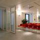 Schiebe-Stapel-Trennwand / verglast / Gewerbe / schallisoliert