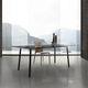 moderner Tisch / Glas / HPL / Melamin