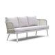 modernes Sofa / Garten / Stoff / Aluminium
