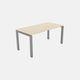 Aluminium-Schreibtisch / Holz / Laminat / modern