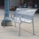 Stil-Parkbank / aus Ökolabel-Ipe / Stahl / Recyclingkunststoff