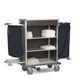 Wagen für Zimmerservice / für Gesundheitseinrichtungen / für Hotels / anodisiertes Aluminium