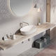 Aufsatzwaschbecken / oval / Stein / modern