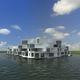 Fertigbau-Gebäude / schwimmend / für den Wohnungsbau / modern