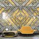 moderne Tapete / rustikal / Stoff / mit geometrischen Motiven