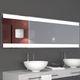 wandmontierter Spiegel für Badezimmer / LED beleuchtet / modern / rechteckig