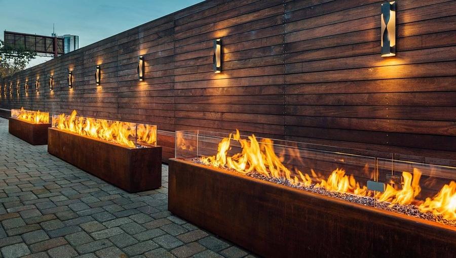 Sehr Projekt Galleria Marchetti | Bestellte Gas-Feuer Komodo im Freien YZ57
