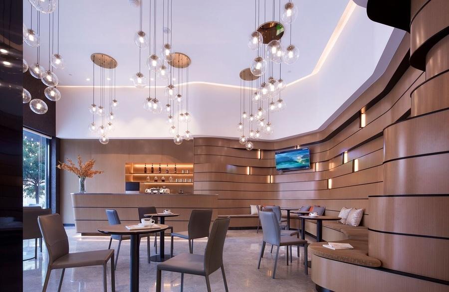 Modernes LOHAS - Raum-Entwurf des Geschmacks-Salon-Speichers ...