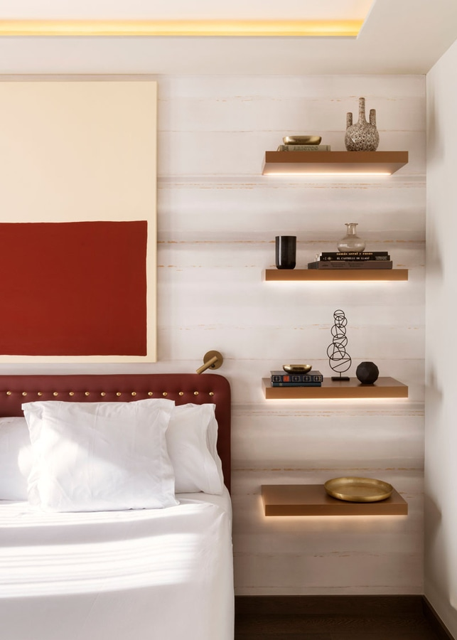 Schlafzimmer-Entwurfs-Idee – ersetzen Sie einen Nachttisch ...