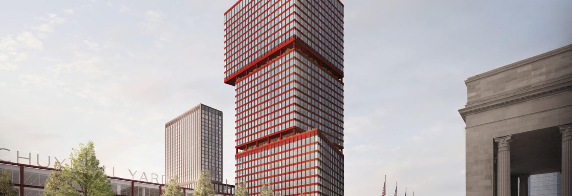 Auffälliger LEED Silber-gezielter Turm im Herzen von Philadelphia
